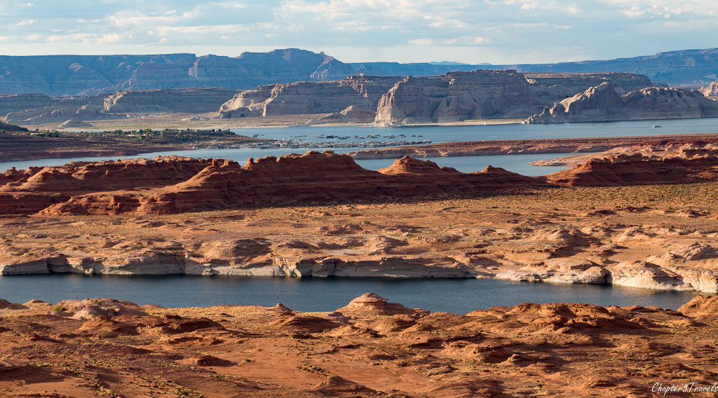 Views of Lake POwell from the Rim View Trail in Page, Arizona