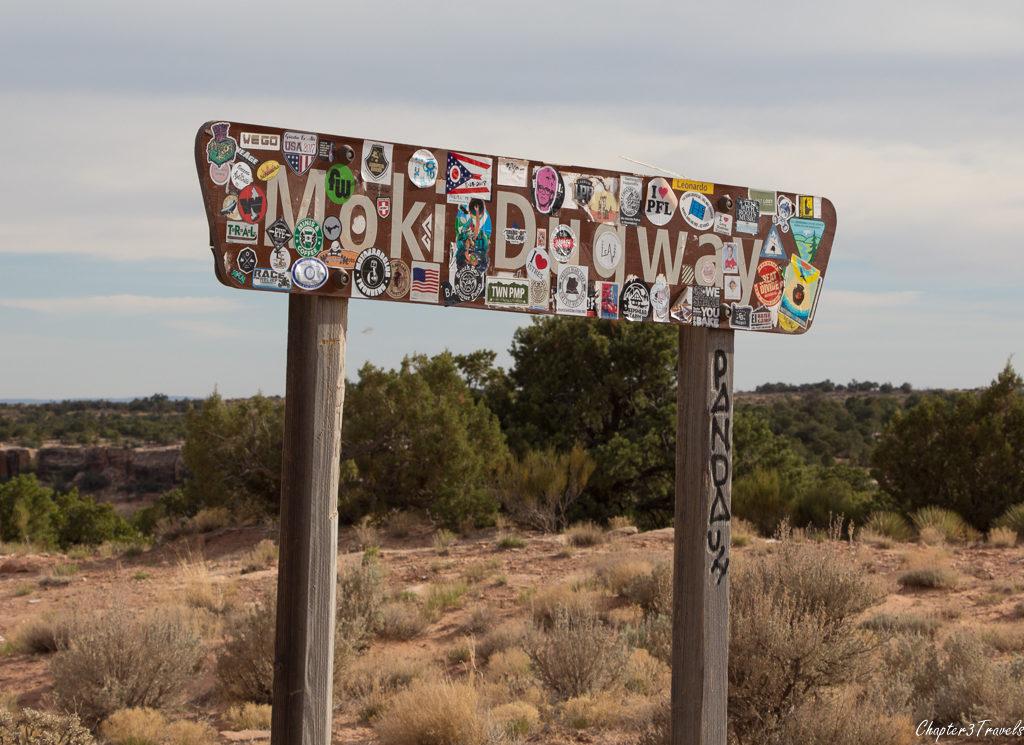 Street sign for the Moki Dugway in Utah