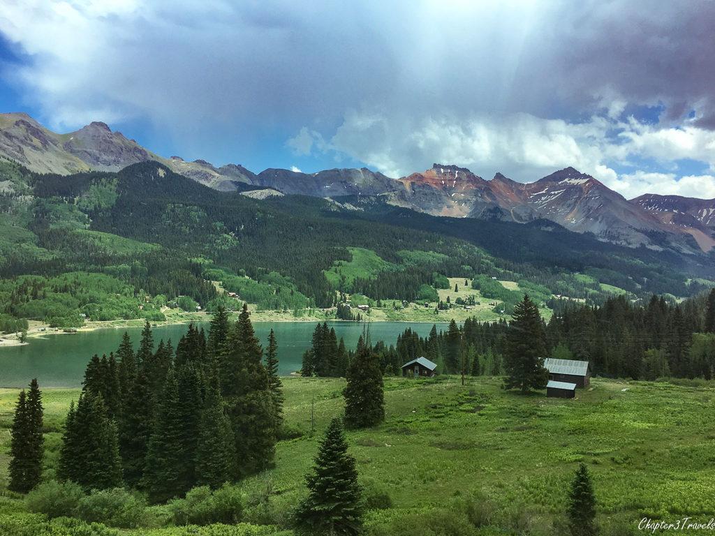 Colorado mountains and lake