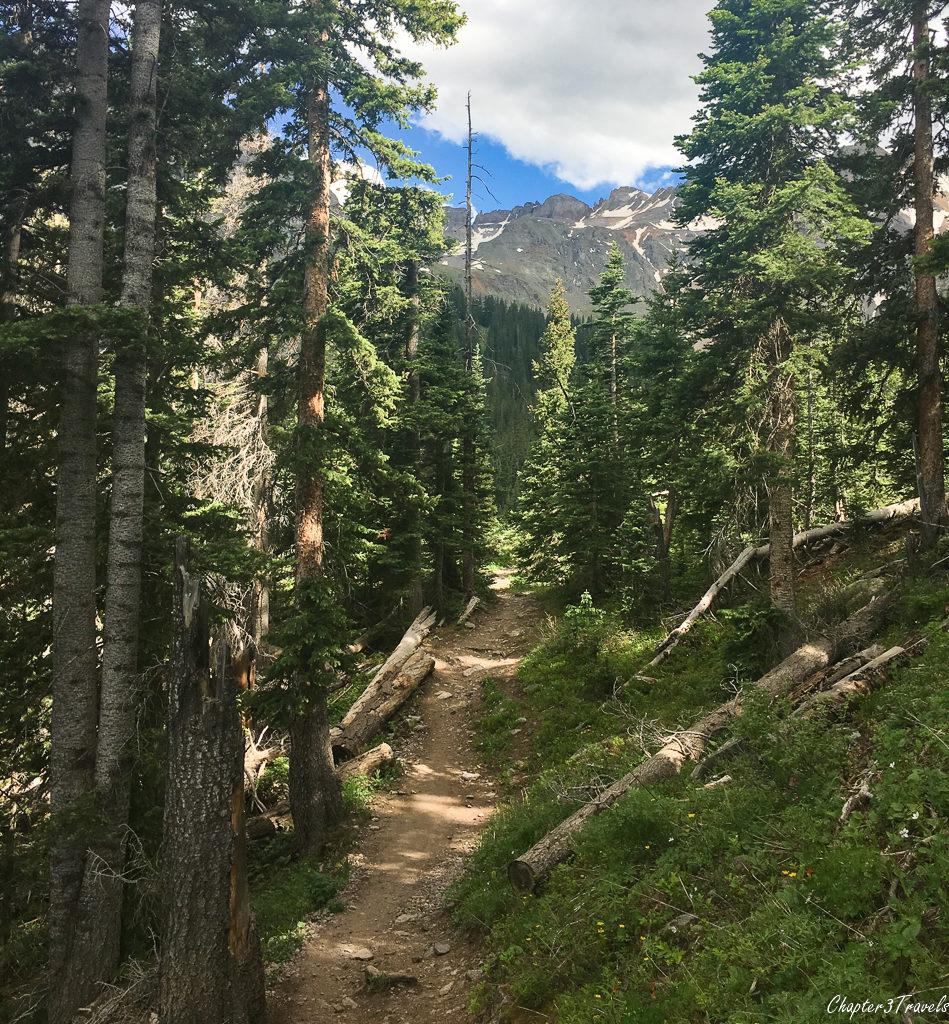 The Blue Lakes Trail in Mount Sneffels Wilderness, Colorado