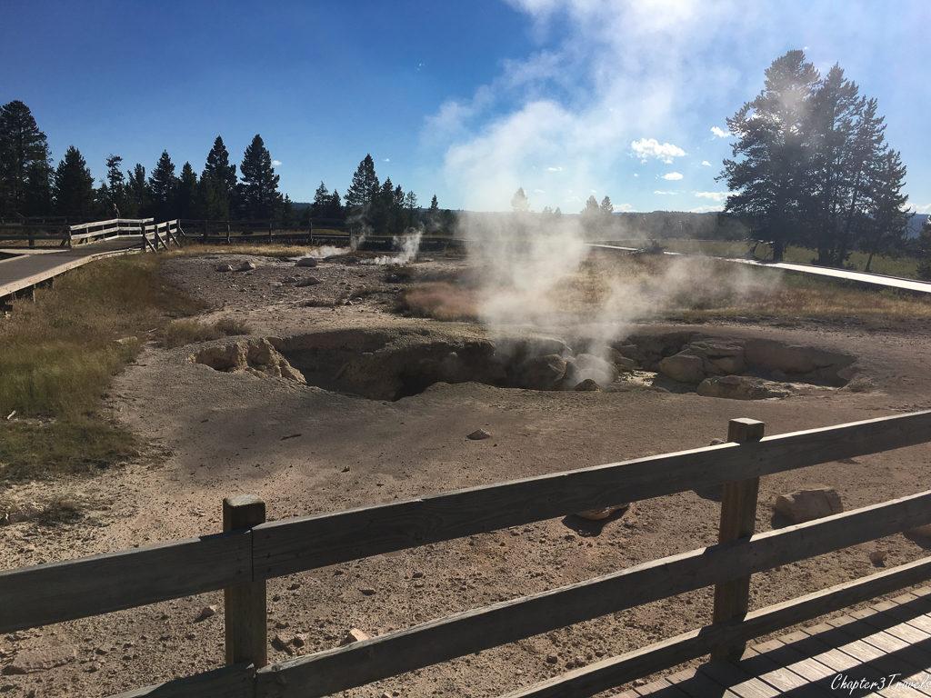 A fumarole at Yellowstone National Park