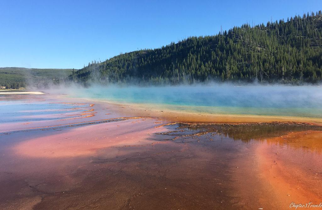 Bacterial mats at Grand Prismatic Spring at Yellowstone National Park