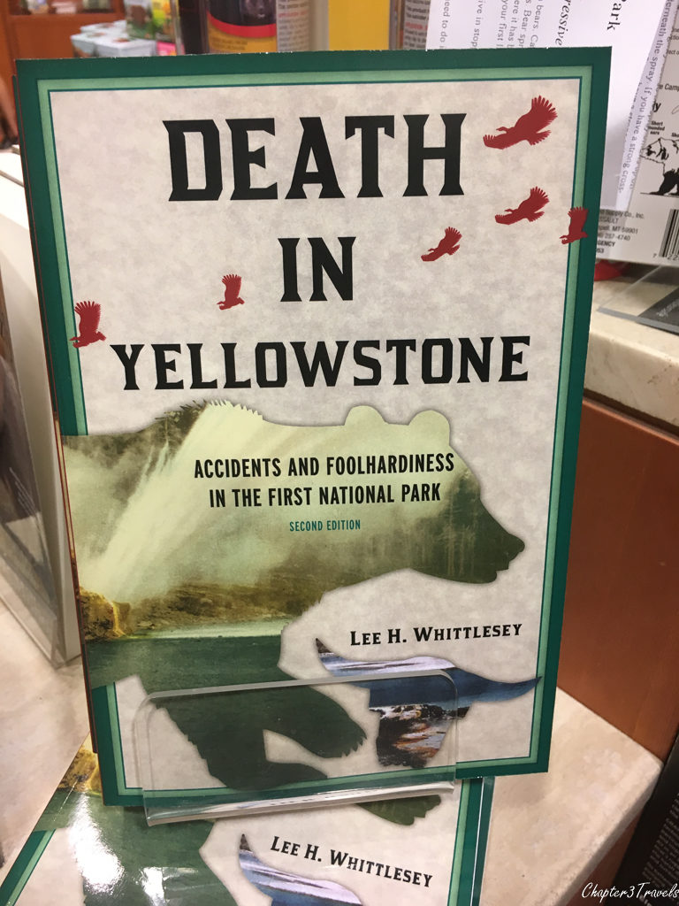 "Book entitled ""Death in Yellowstone"""