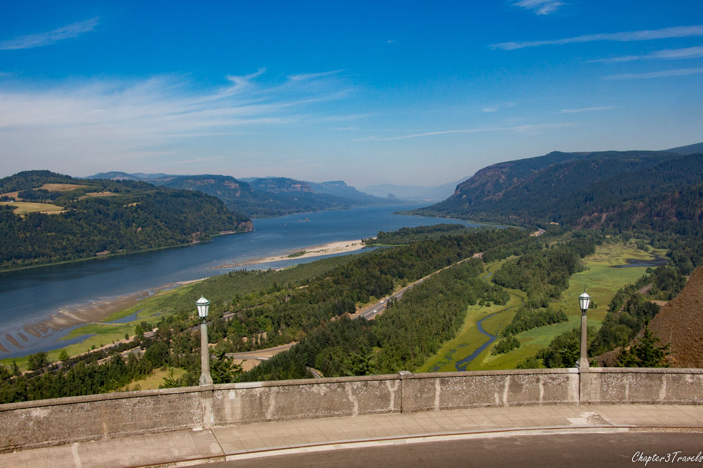 The Columbia River Gorge Scenic Area - view from Vista House