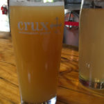 A hazy IPA from Crux Brewery