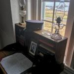 The light keeper's desk inside the Yaquina Head Lighthouse