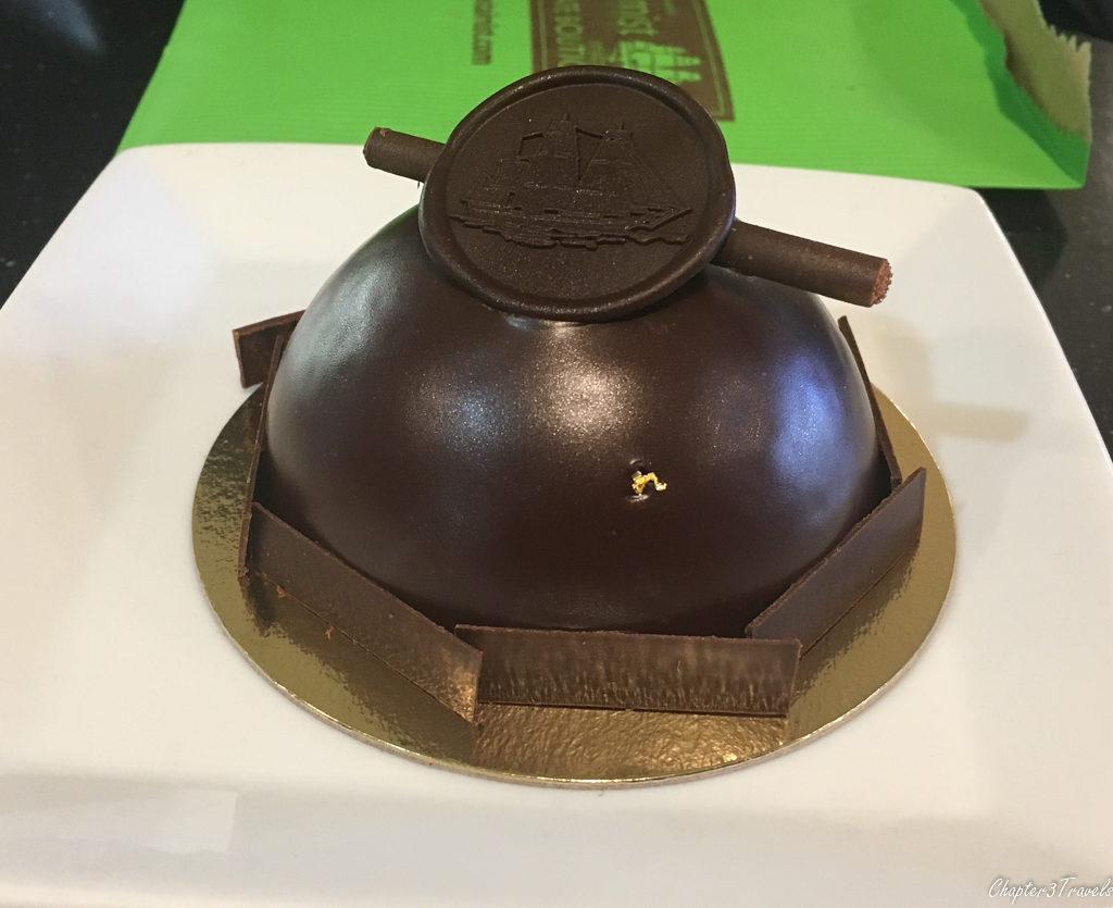 A chocolate bomb at Coastal Mist in Bandon, Oregon