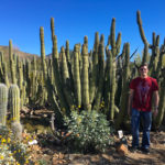 Kevin standing next to a giant cactus