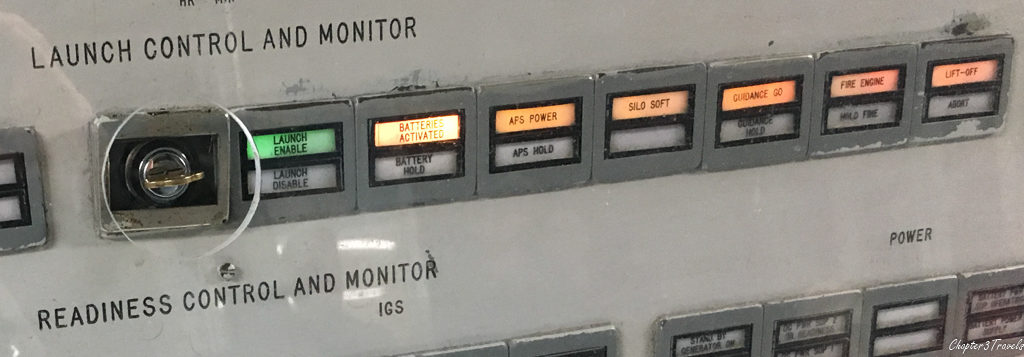 Launch control panel at Titan Missile Museum
