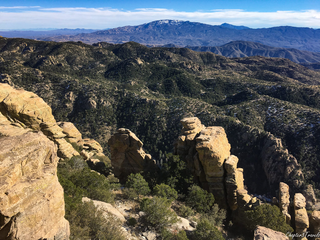 View of mountains from the top of Mount Lemmon in Tucson