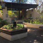 Outdoor sitting area and even space at the Tohono Chul Garden in Tucson