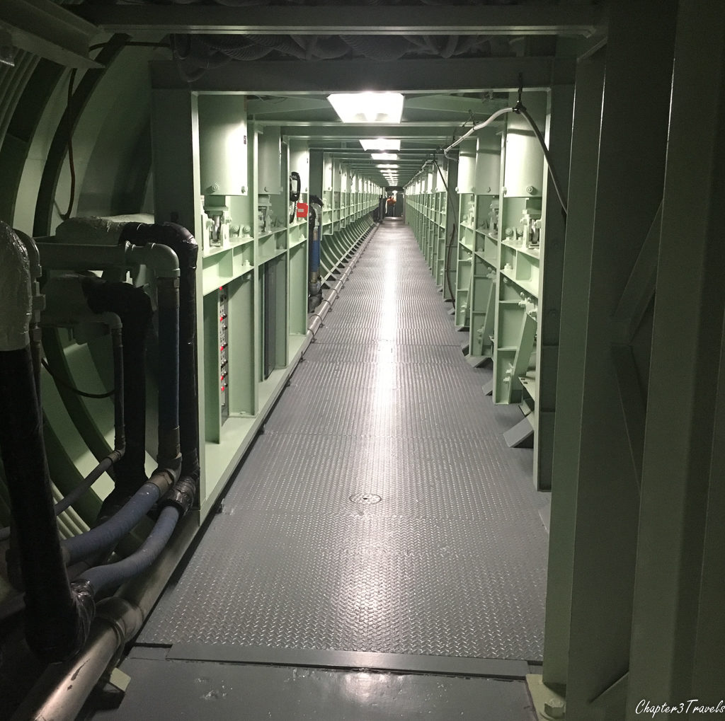 Hallway between the command center and the missile silo at the Titan II Missile complex near Tucson