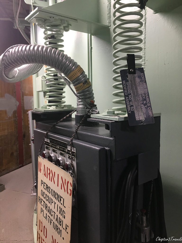 Equipment attached to springs at the Titan Missile Museum