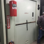 Freight elevator in the silo at Titan Missile Museum