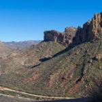 The Apache Trail winding through mountains