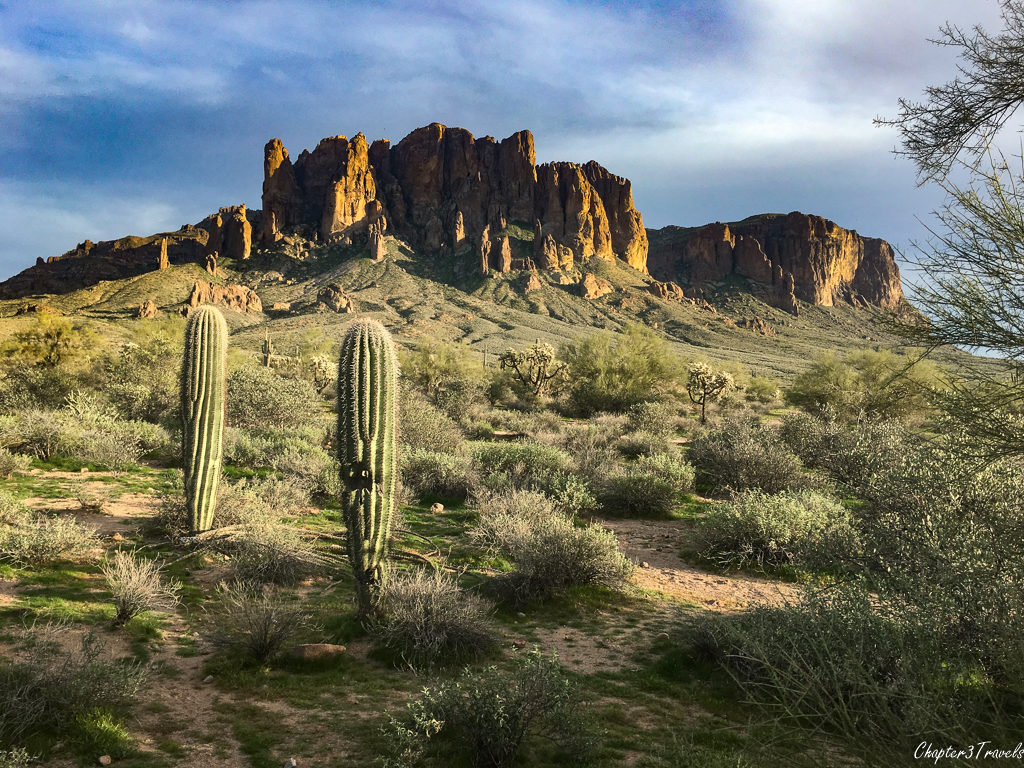 The Superstition Mountains at Lost Dutchman State Park