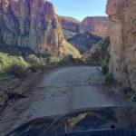 Narrow, windy, road through the mountains