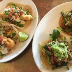 Pork Carnitas tacos and Baja fish tacos
