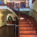 Curved staircase in La Posada Hotel