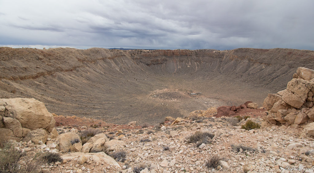The Meteor crater in Winslow, Arizona