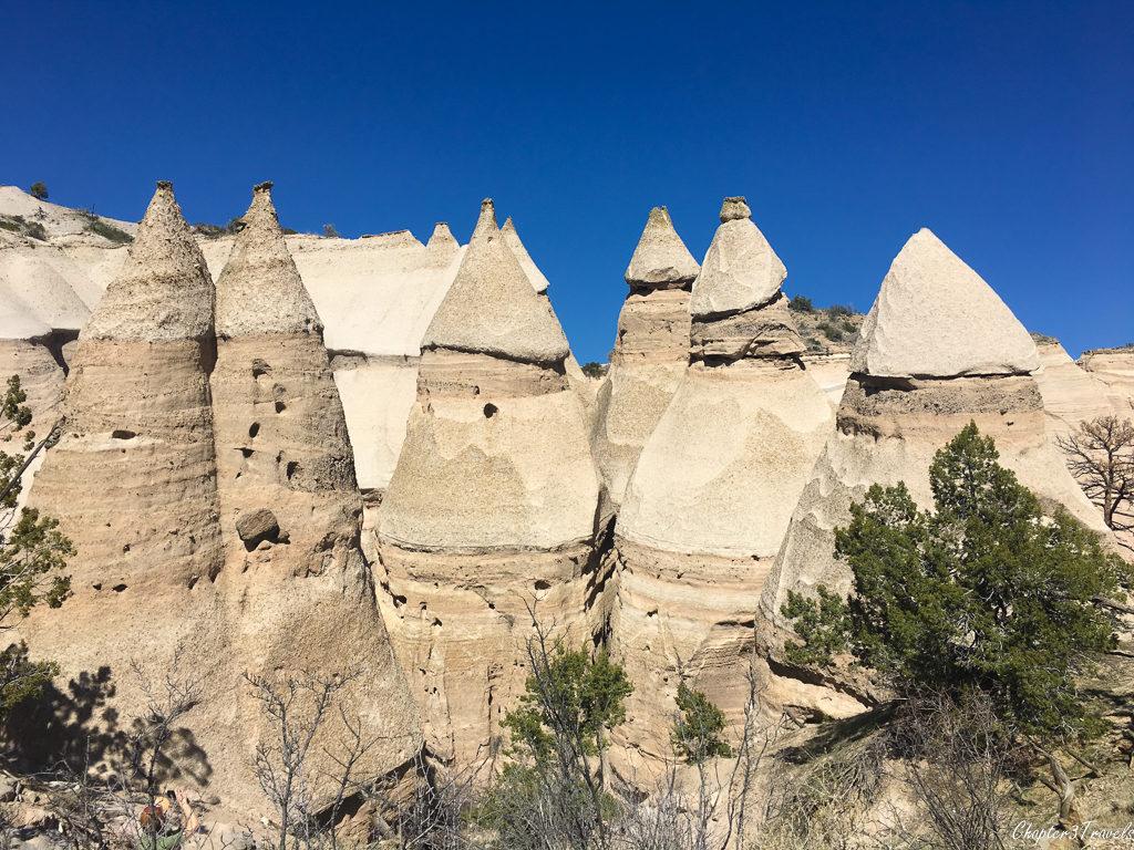 The tent rocks at Kasha Katuwe Tent Rocks Monument