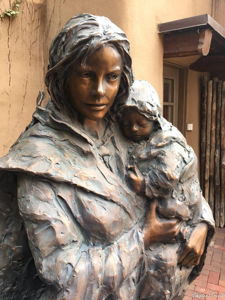 Sculpture at Nedra Marteucci Gallery in Santa Fe