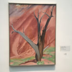 Painting at Georgia O'Keeffe Museum in Santa Fe