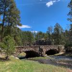 Stone bridge over creek at Custer State Park