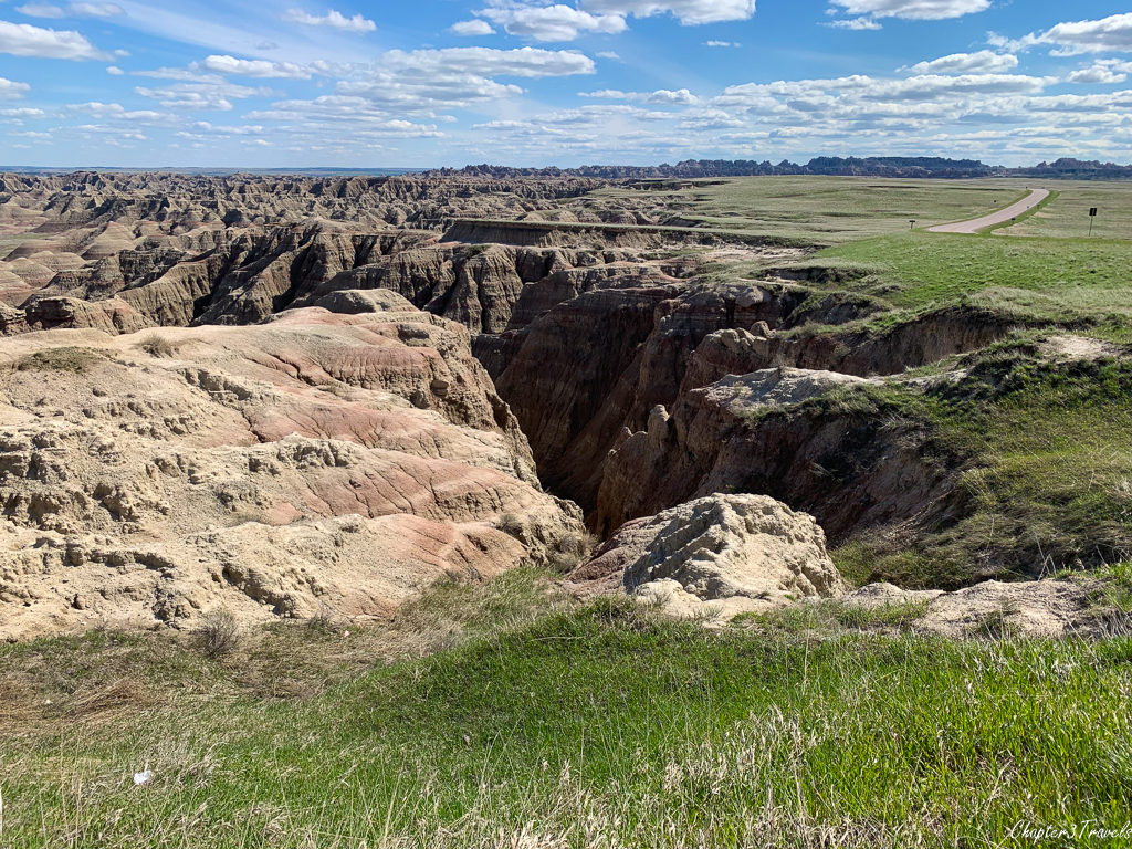 Scenery at Badlands National Park in South Dakota