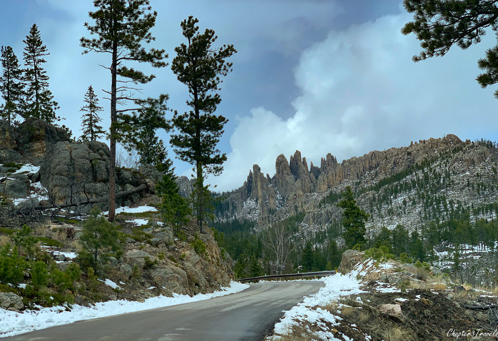 View from the Needles Highway in Custer State Park in South Dakota