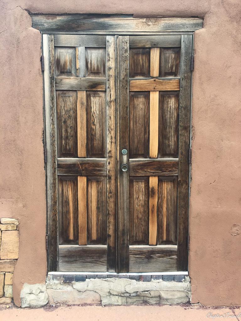 Santa Fe doorway in downtown area
