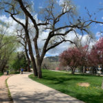 The Bike/Walk path in downtown Boulder