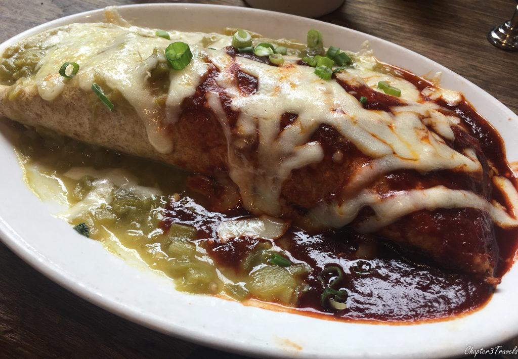 Chorizo Burrito at Cafe Pasqual's in Santa Fe