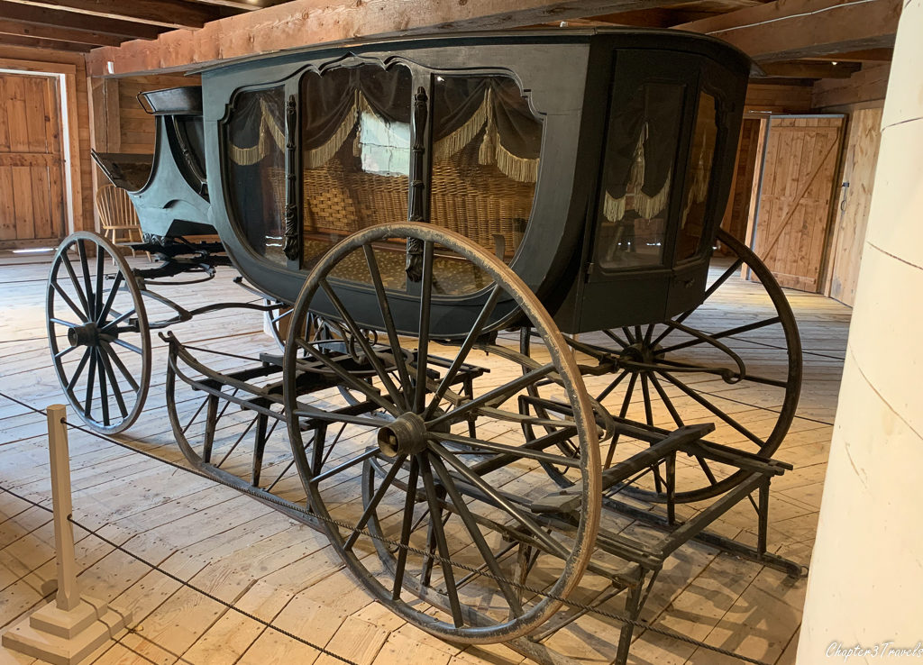 Horse drawn hearse located at the Shelburne Museum in Shelburne, Vermont