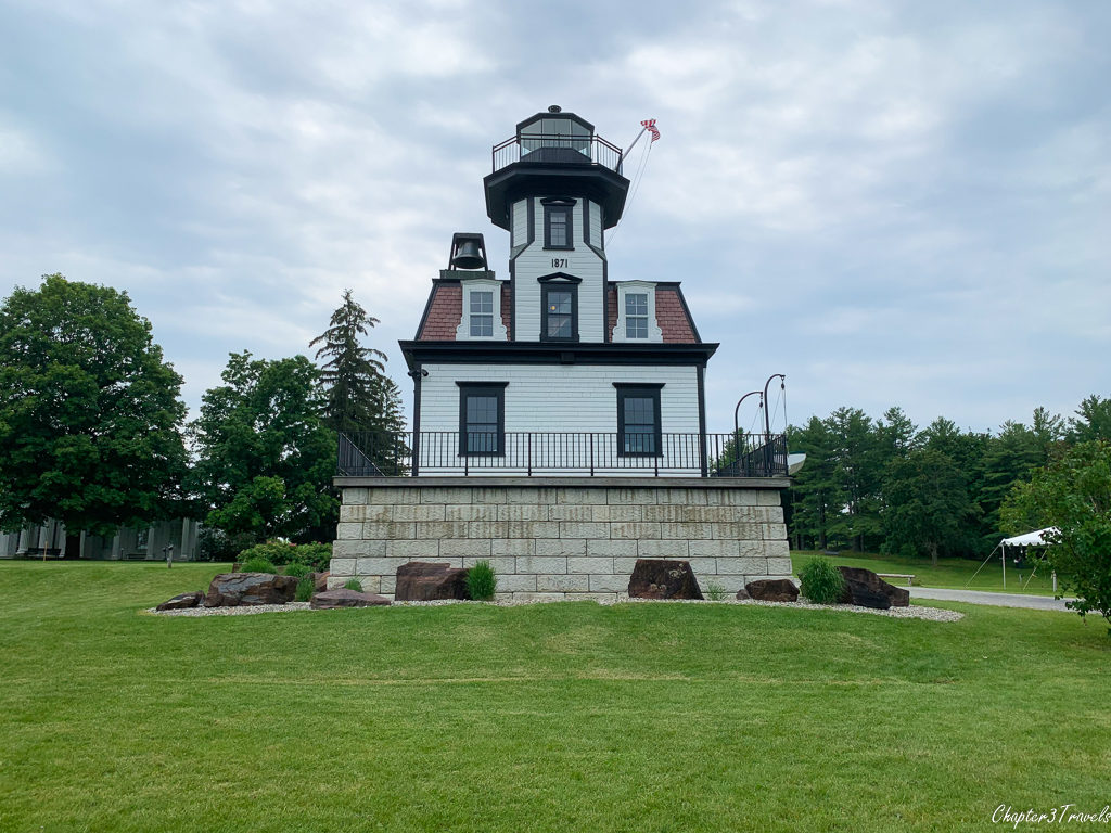 Lighthouse located at the Shelburne Museum in Shelburne, Vermont