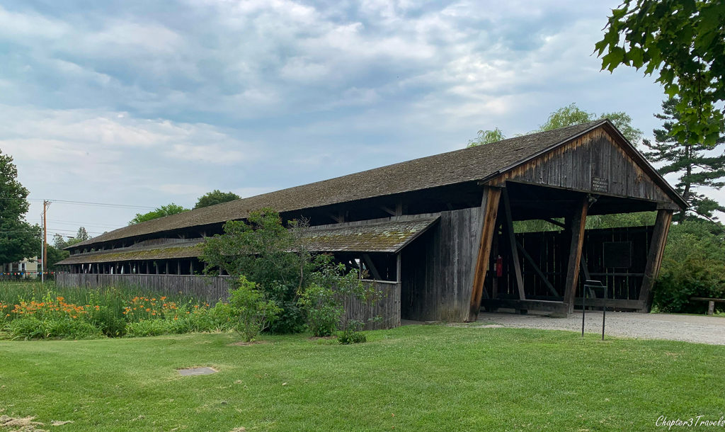 Covered bridge located at the Shelburne Museum in Shelburne, Vermont