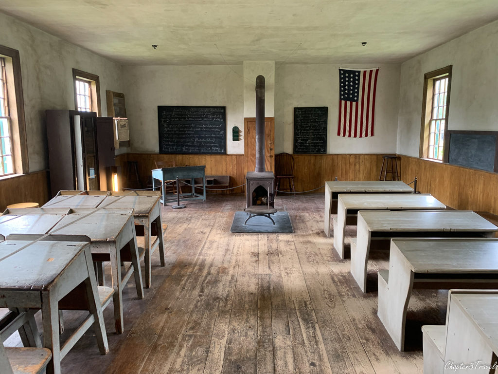 One room school located at the Shelburne Museum in Shelburne, Vermont
