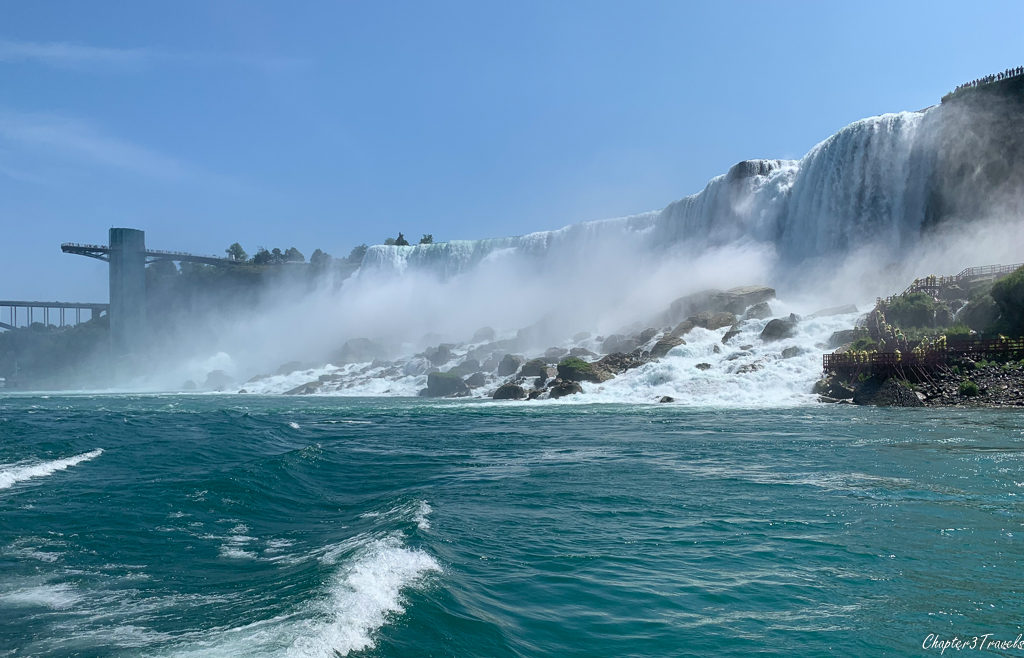 View of the American Falls from Hornblower cruise