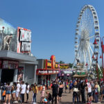 Clifton Hill ferris wheel and other activities