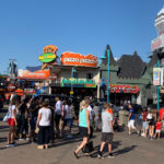 Crowds at Clifton Hill