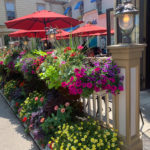 Floral display in front of store at Niagara on the Lake
