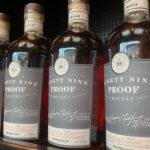 Whiskey bottles at Gretzky distillery