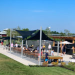 Outdoor seating and games area