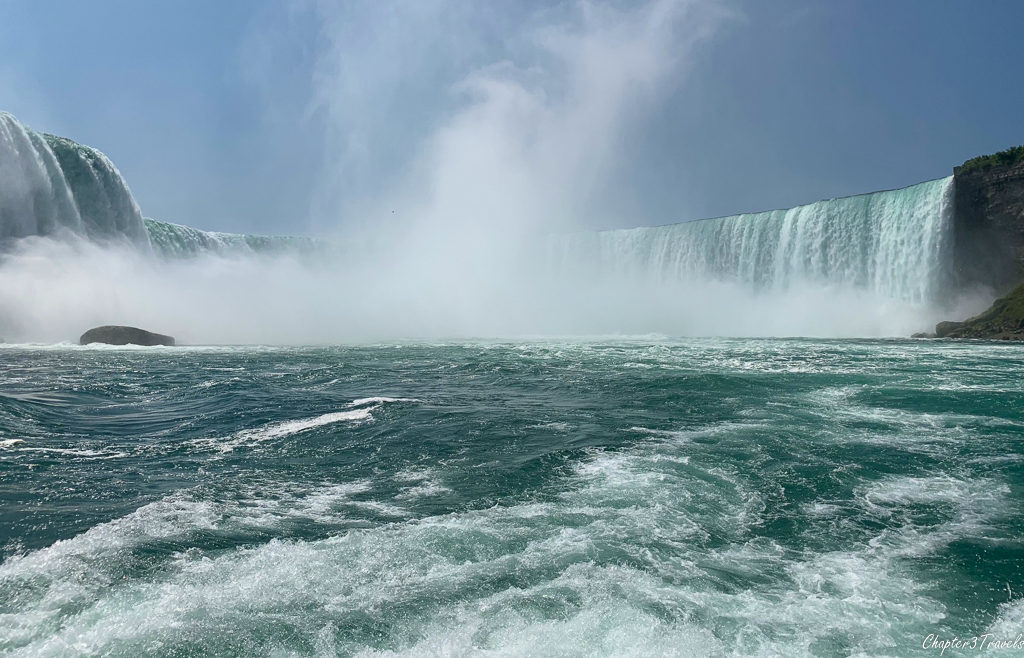 View of Horseshoe Falls from Hornblower boat