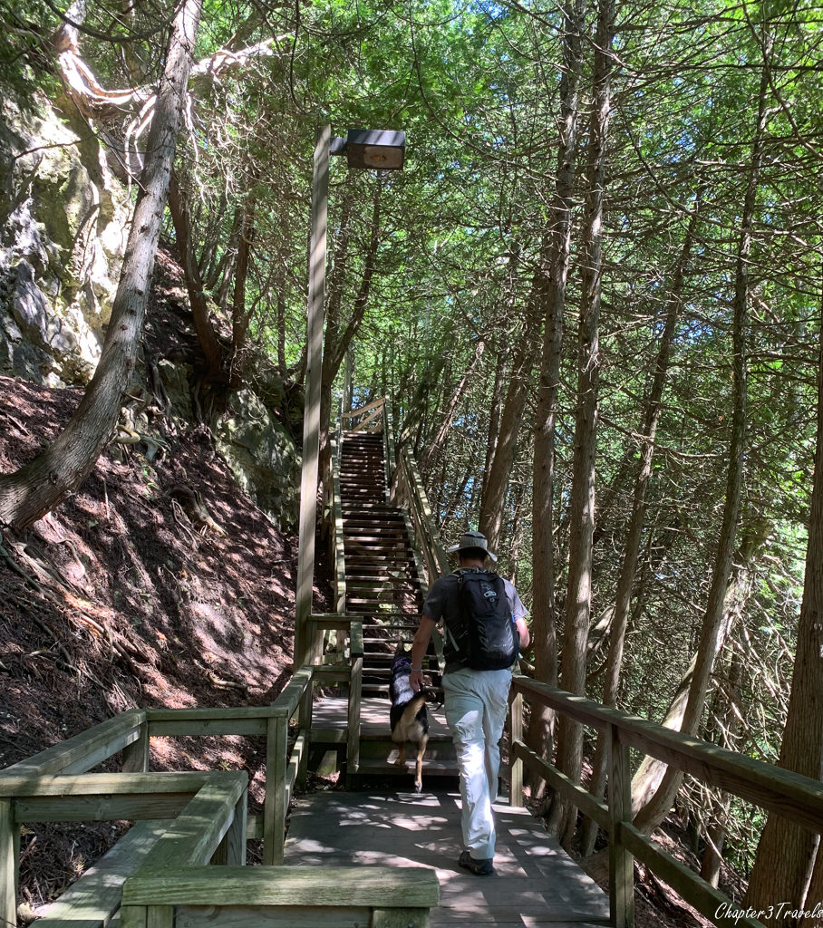 Interior trails in the forest at Mackinac Island