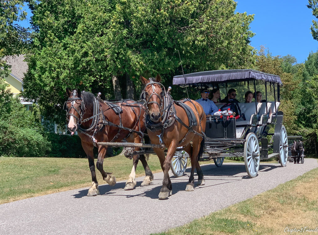 Horse drawn carriage on Mackinac Island