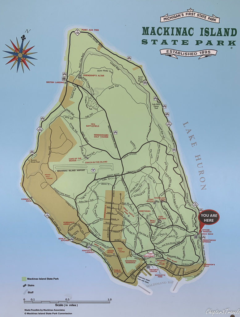 Detailed map of Mackinac Island