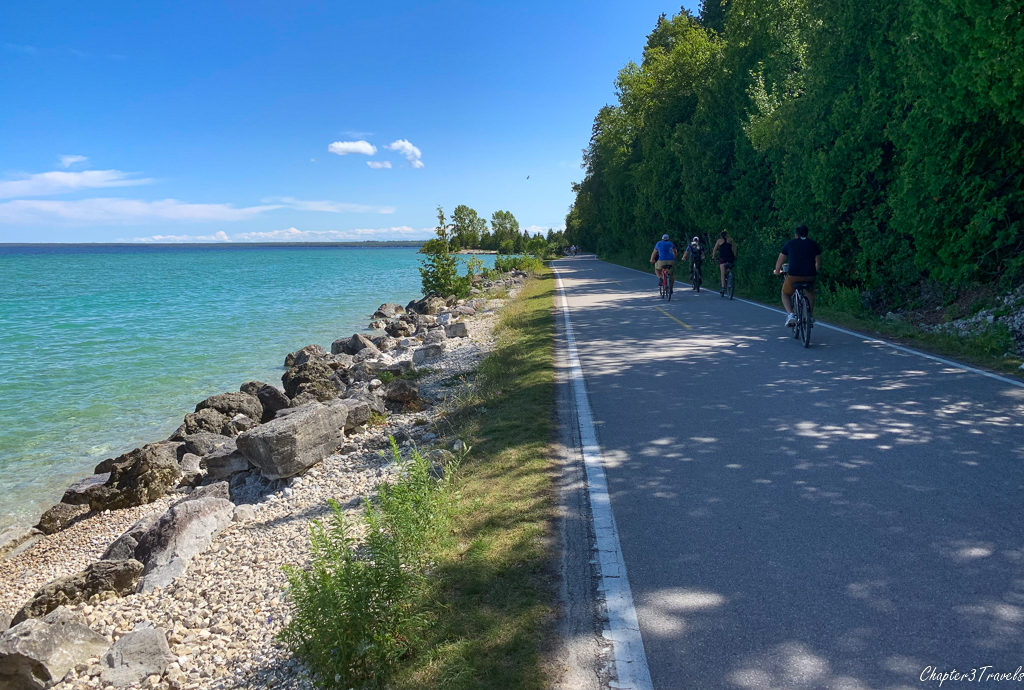 Perimeter loop on Mackinac Island