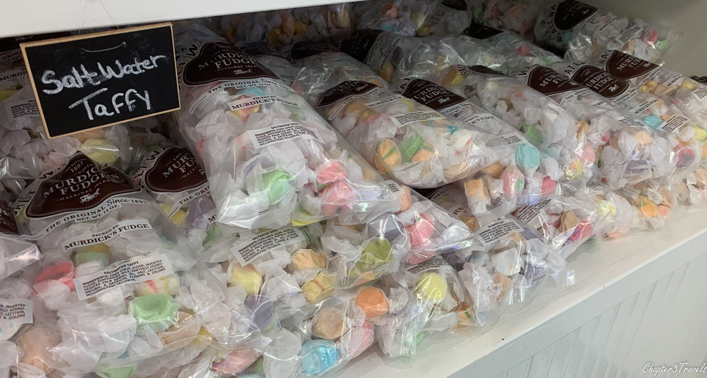 Bags of salt water taffy