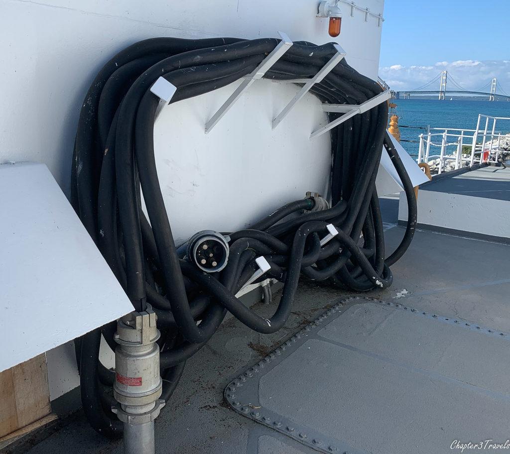 Mackinaw Icebreaker shore power cord
